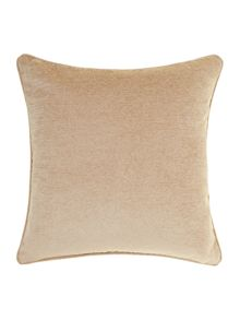 Plain chenille cushion, Latte