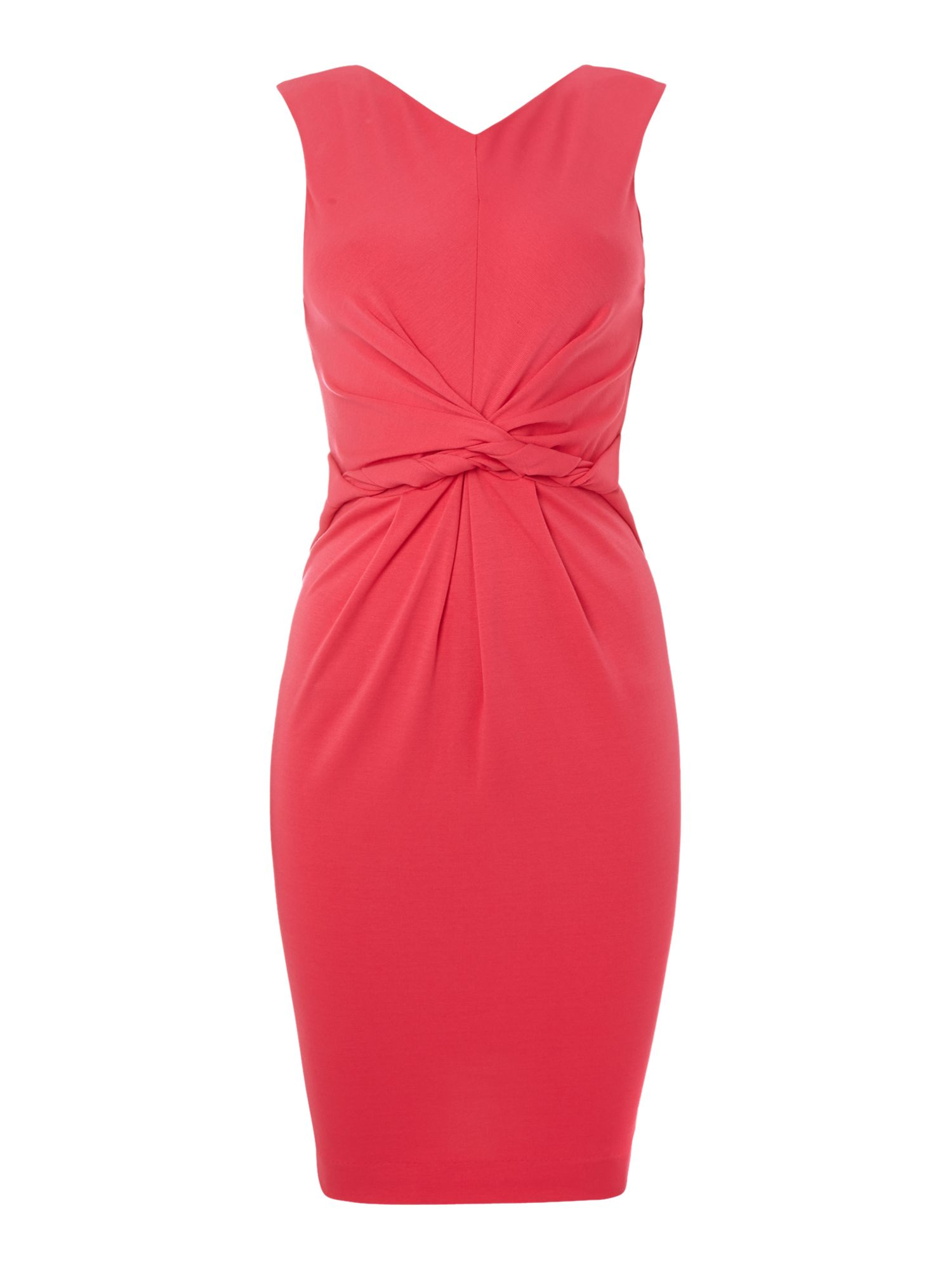 Sleeveless knot front dress