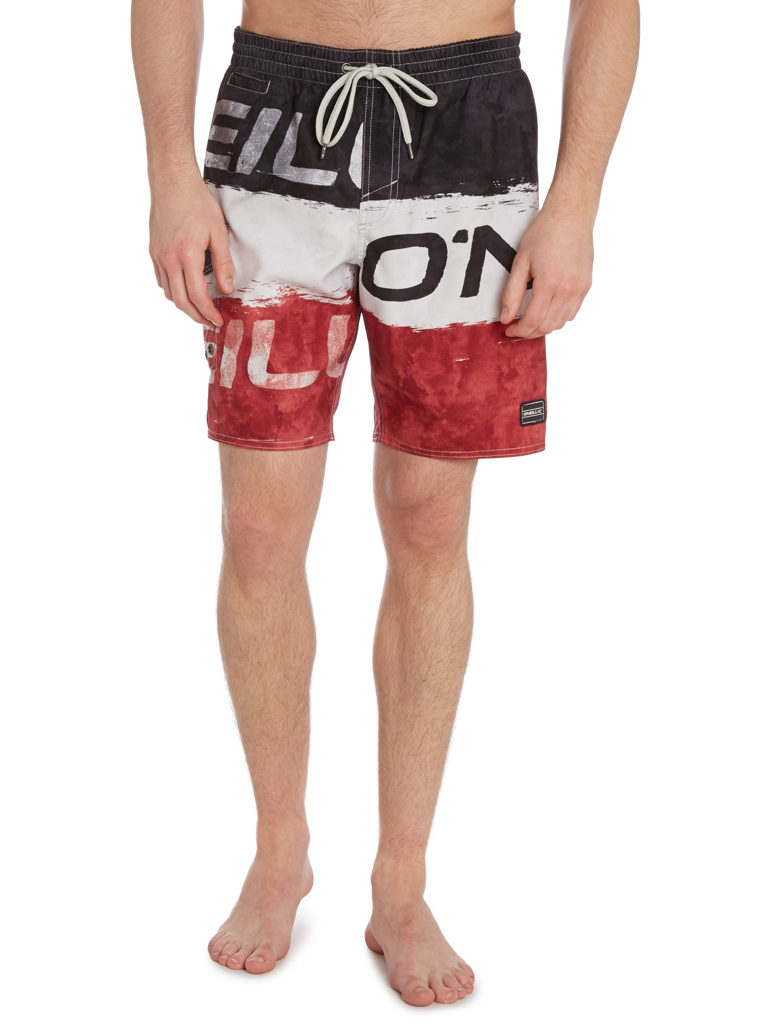 Large all over logo swim short
