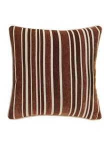 Stripe chenille cushion, Latte