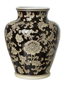 Mandalay vase in black