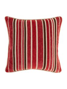 Linea Red stripe chenille cushion