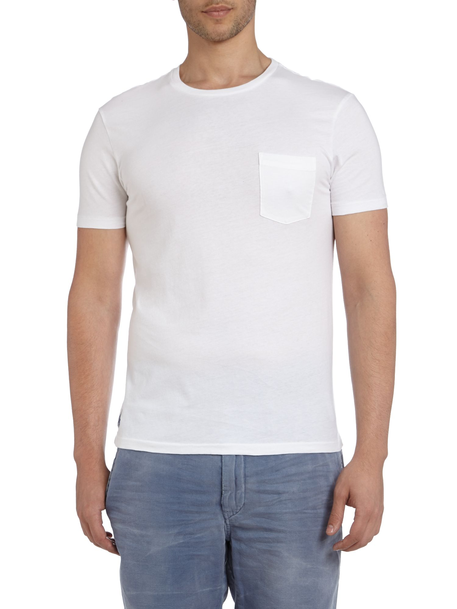 Crew neck pocket t shirt