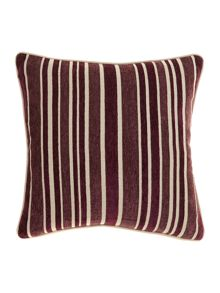 Linea Stripe chenille cushion, Purple