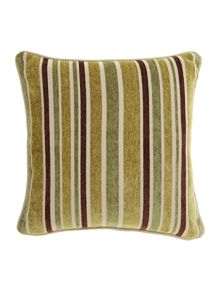 Linea Stripe chenille cushion, Green