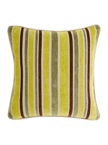 Stripe chenille cushion, Lime