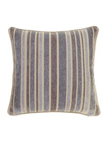 Stripe chenille cushion, Grey