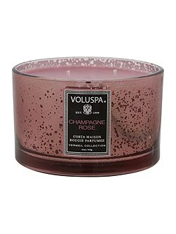 Voluspa Champagne Rose 12oz Corta Maison Glass Candle