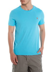 Crew neck combed jersey t shirt