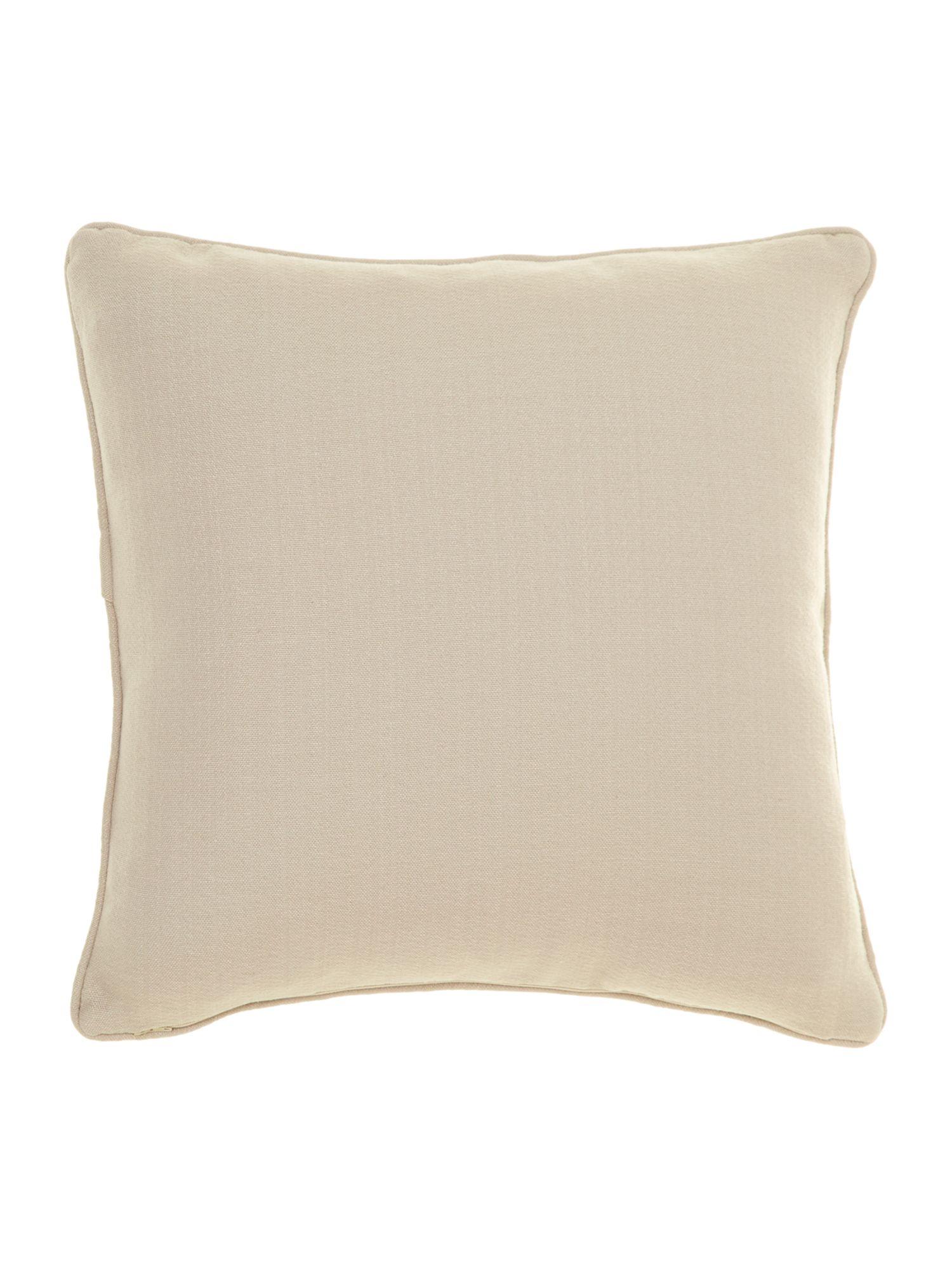 Leaf design chenille cushion, Lime