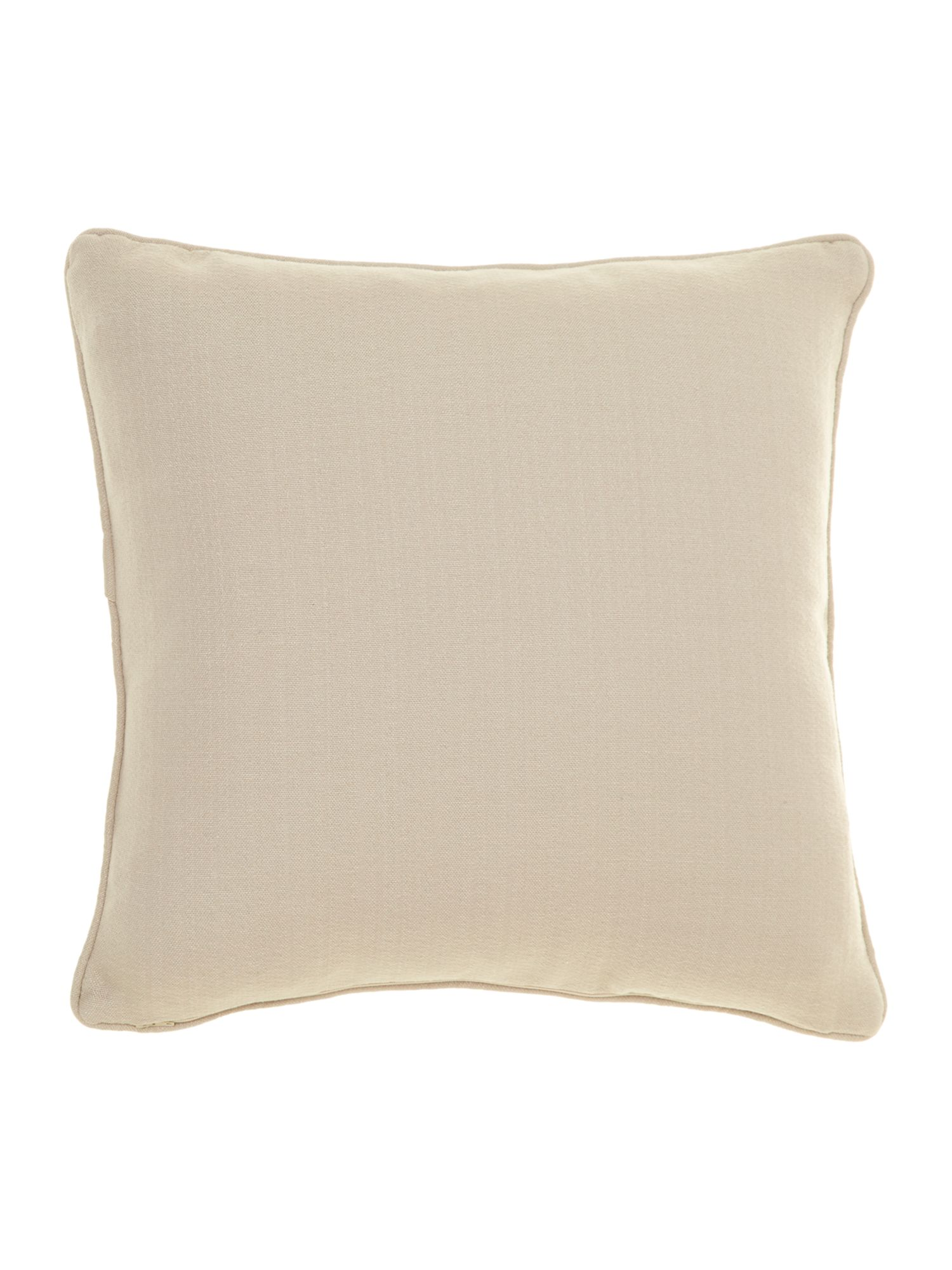 Leaf design chenille cushion, Duck egg