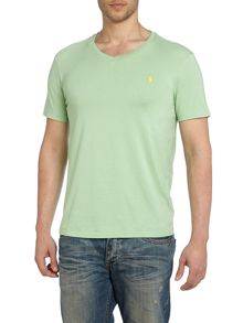 V neck combed jersey t shirt