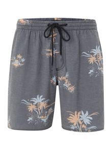 All over palm tree print swim short
