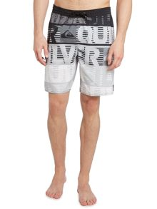 Logo and stripe swim short