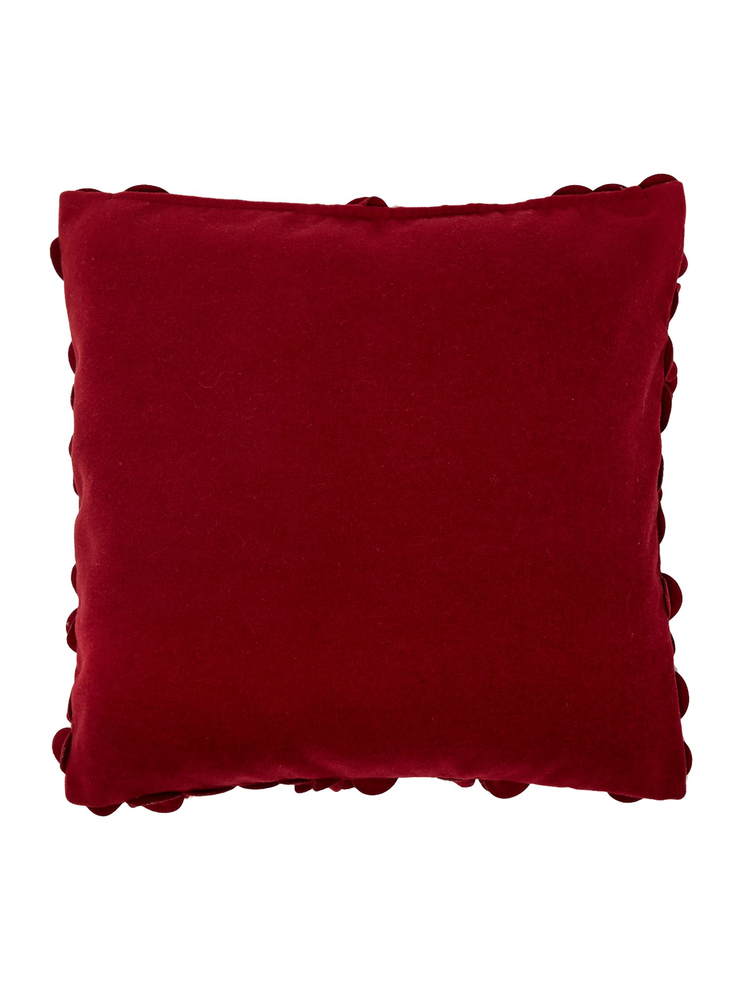 Rose felt cushion, Red