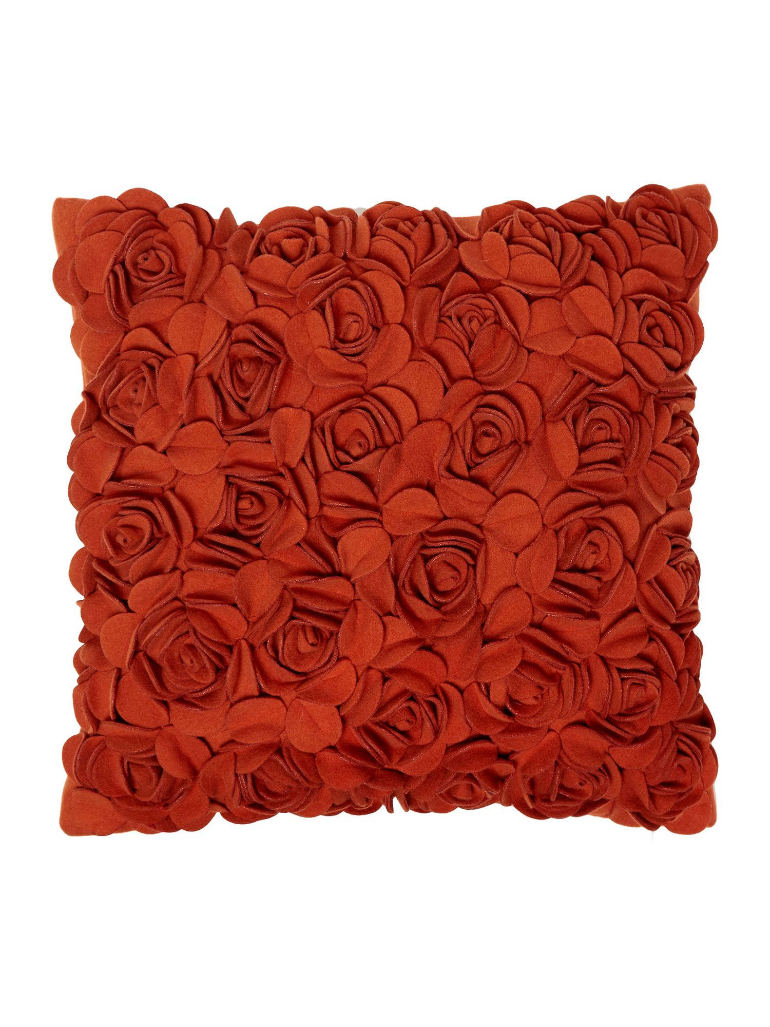 Rose felt cushion, Rust