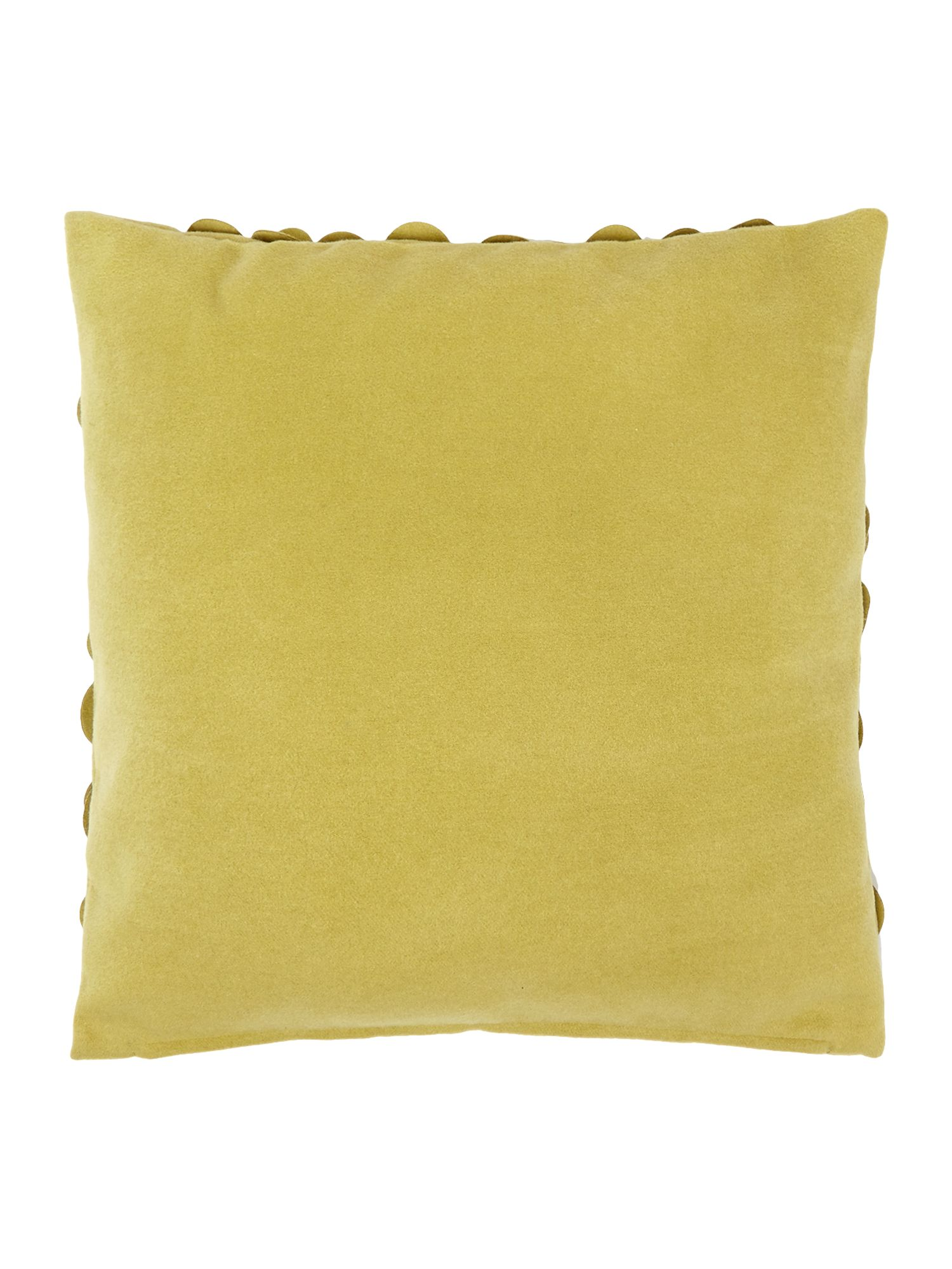 Rose felt cushion, Green