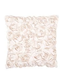Linea Rose felt cushion, Cream