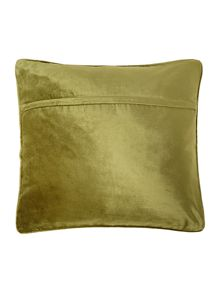 Oversized velvet cushion, green