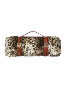 Biba Faux fur leopard fur throw