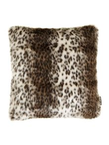 Faux leopard fur cushion