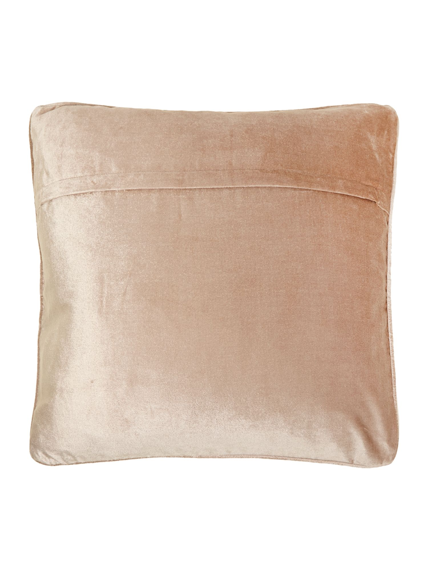 Oversized velvet cushion, Latte