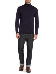 Machine Washable Merino Roll Neck Jumper