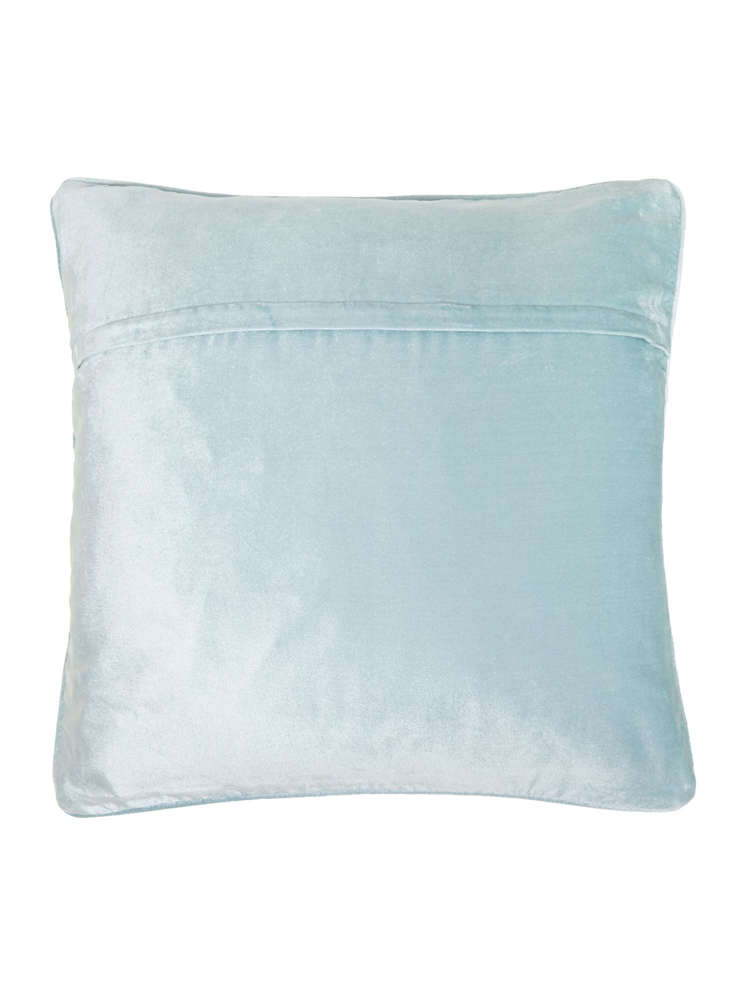 Oversized velvet cushion, Duck egg