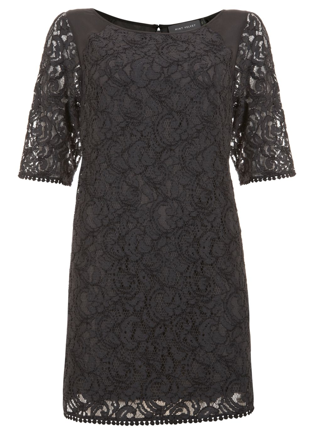 Slate lace t-shirt dress