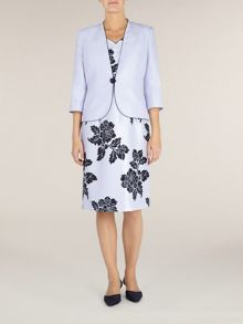 Lilac piped tailored jacket