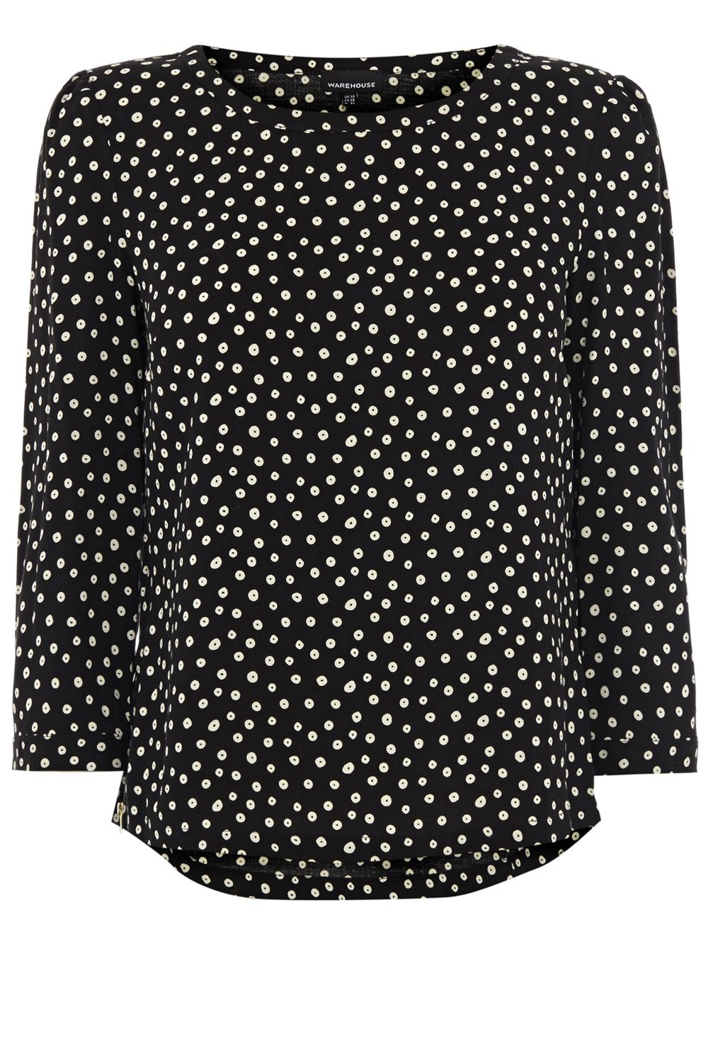 Spotty side zip top