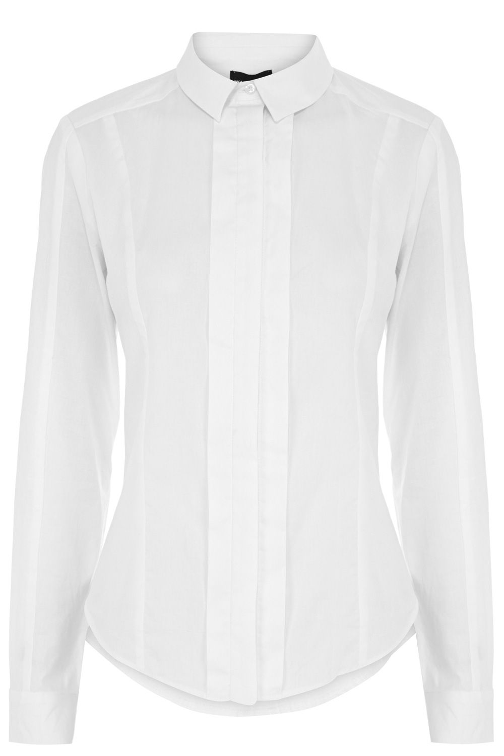 Pleat front clean shirt