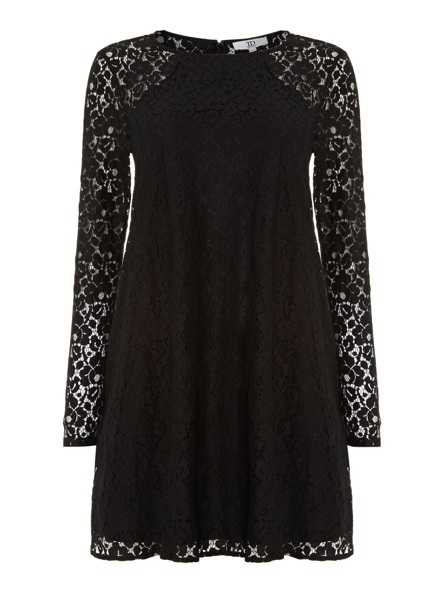 Lace layer swing dress