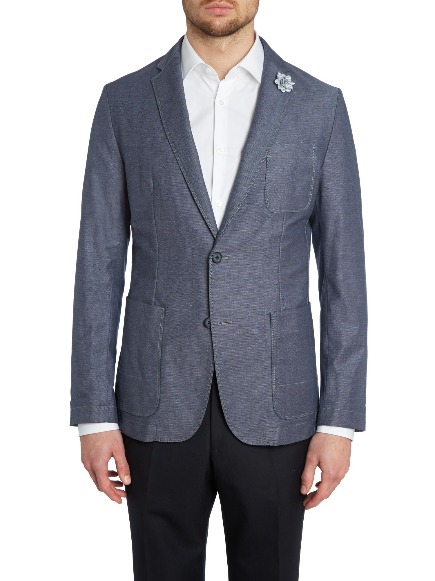 Micro cotton blazer