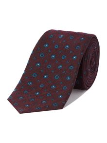 Padva circle geo silk wool tie
