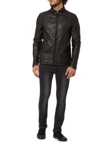 Label Lab Remy leather shirt