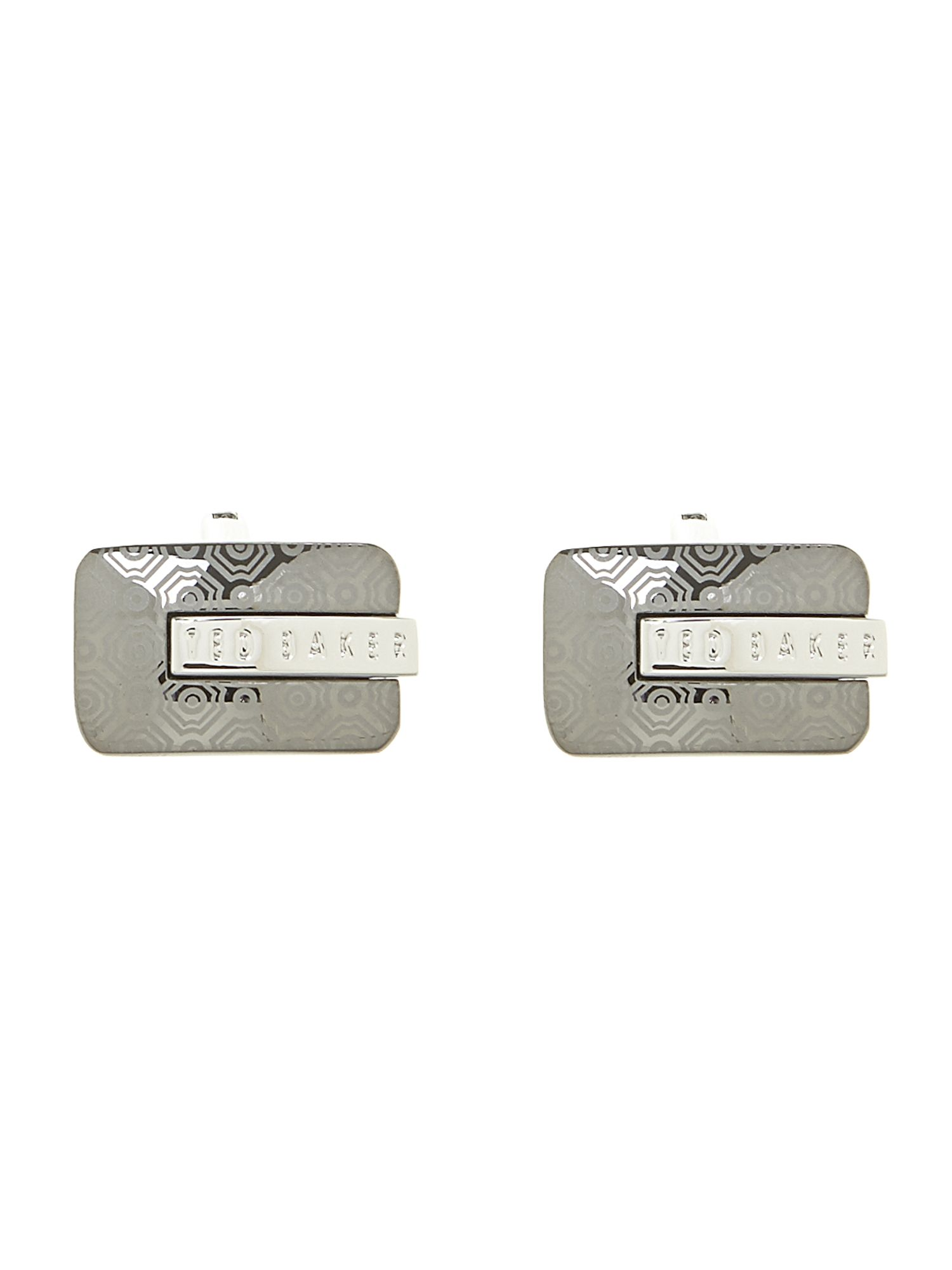 Two tone plating laser etch cufflink