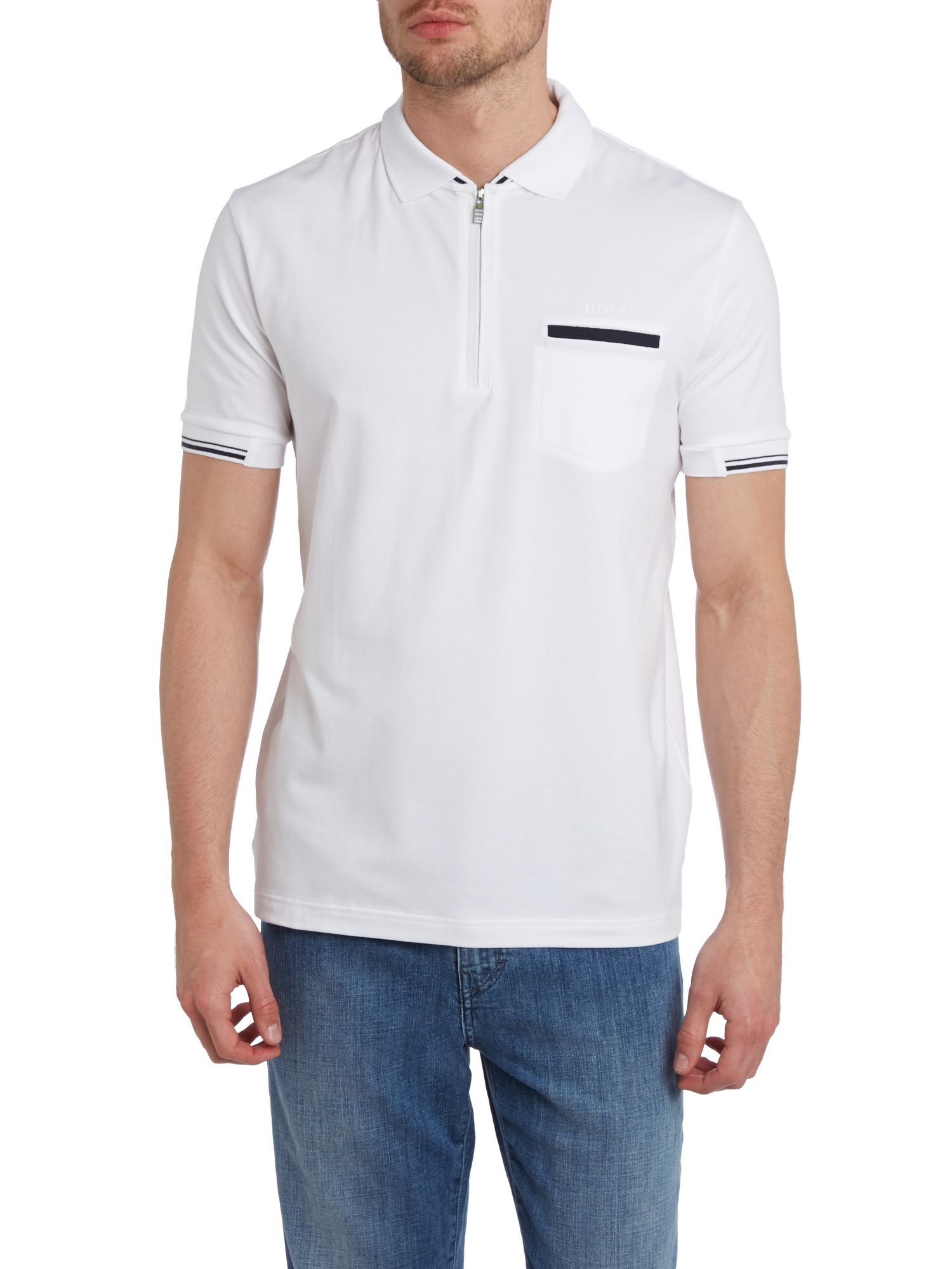 Zip up polo shirt