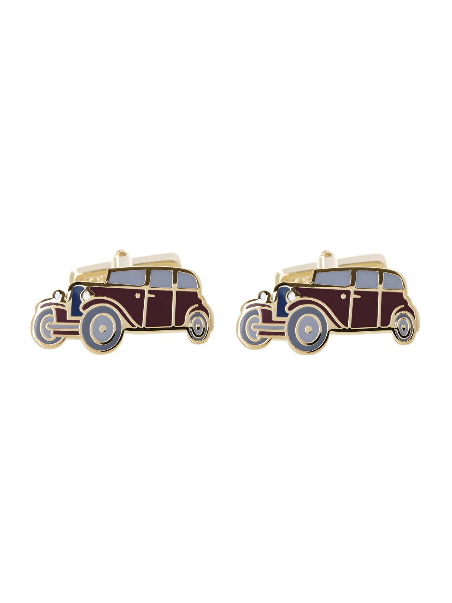 Car design enamel cufflink