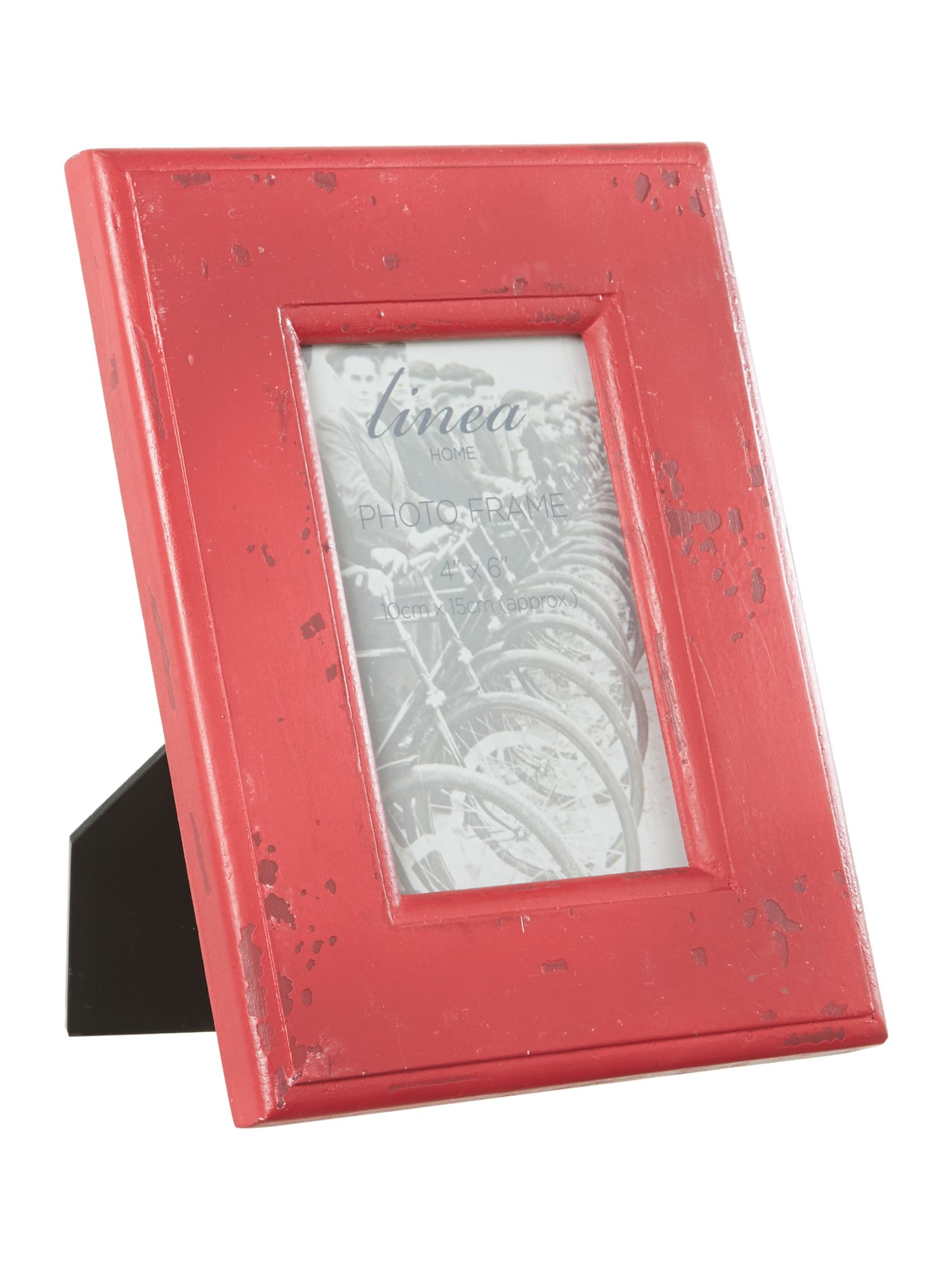 Red photo frame, 4x6
