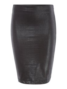 Coated Jersey Skirt