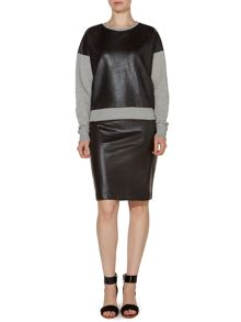 Pied a Terre Coated Jersey Skirt