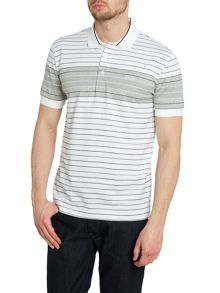Multi stripe slim fit polo shirt