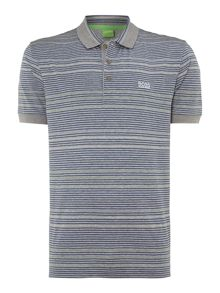 Thin stripe polo shirt