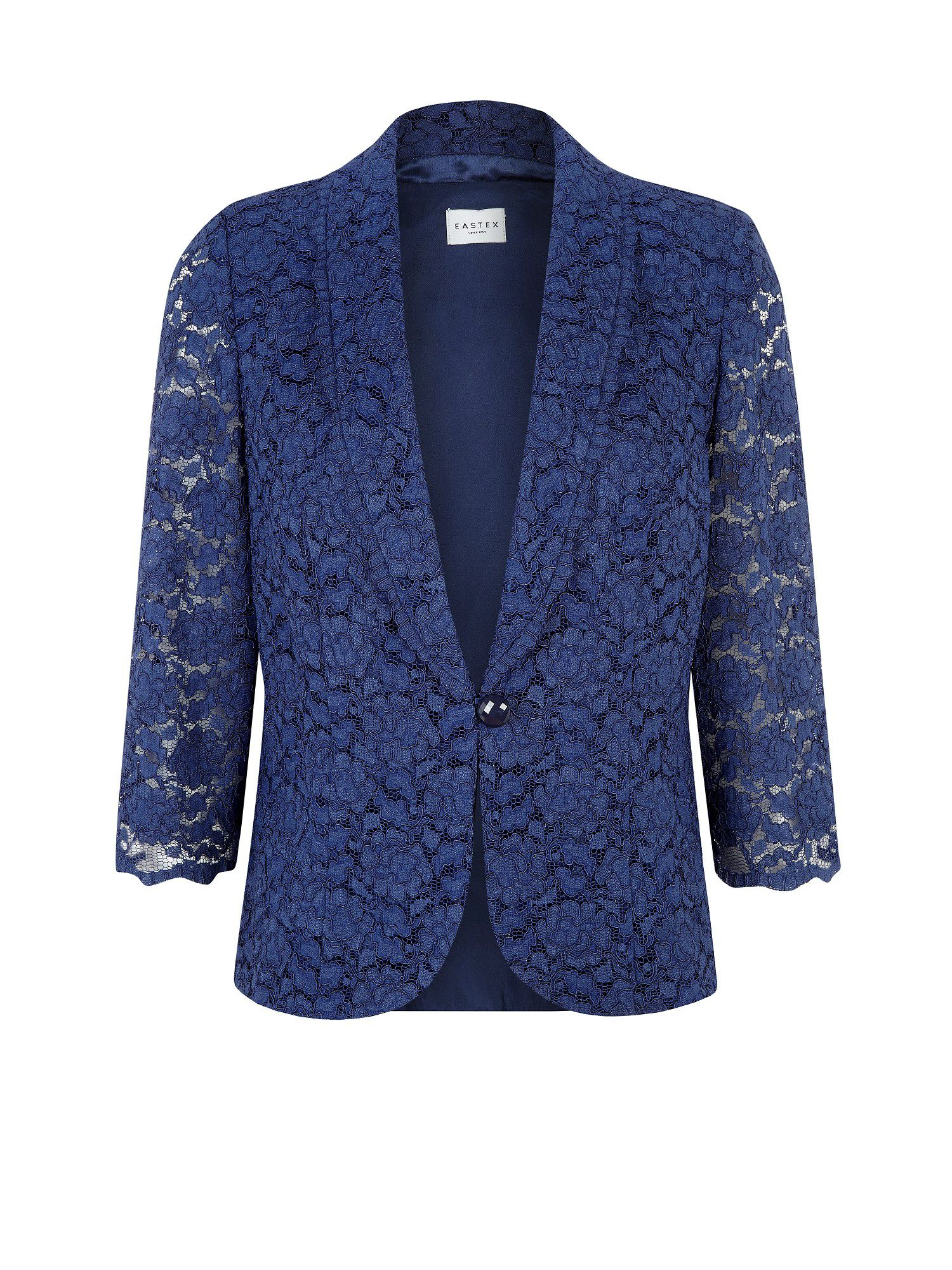 Navy lace tailored jacket