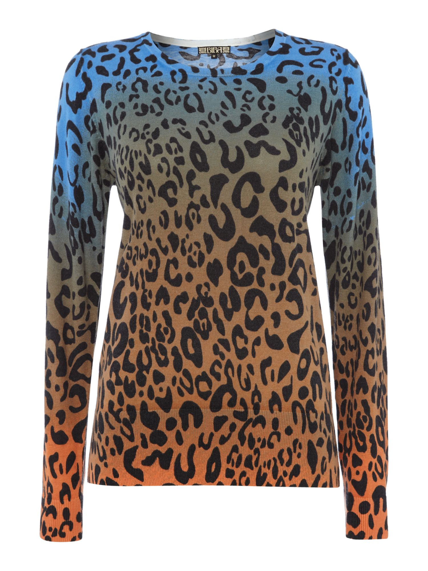 Animal Print Ombre Knit