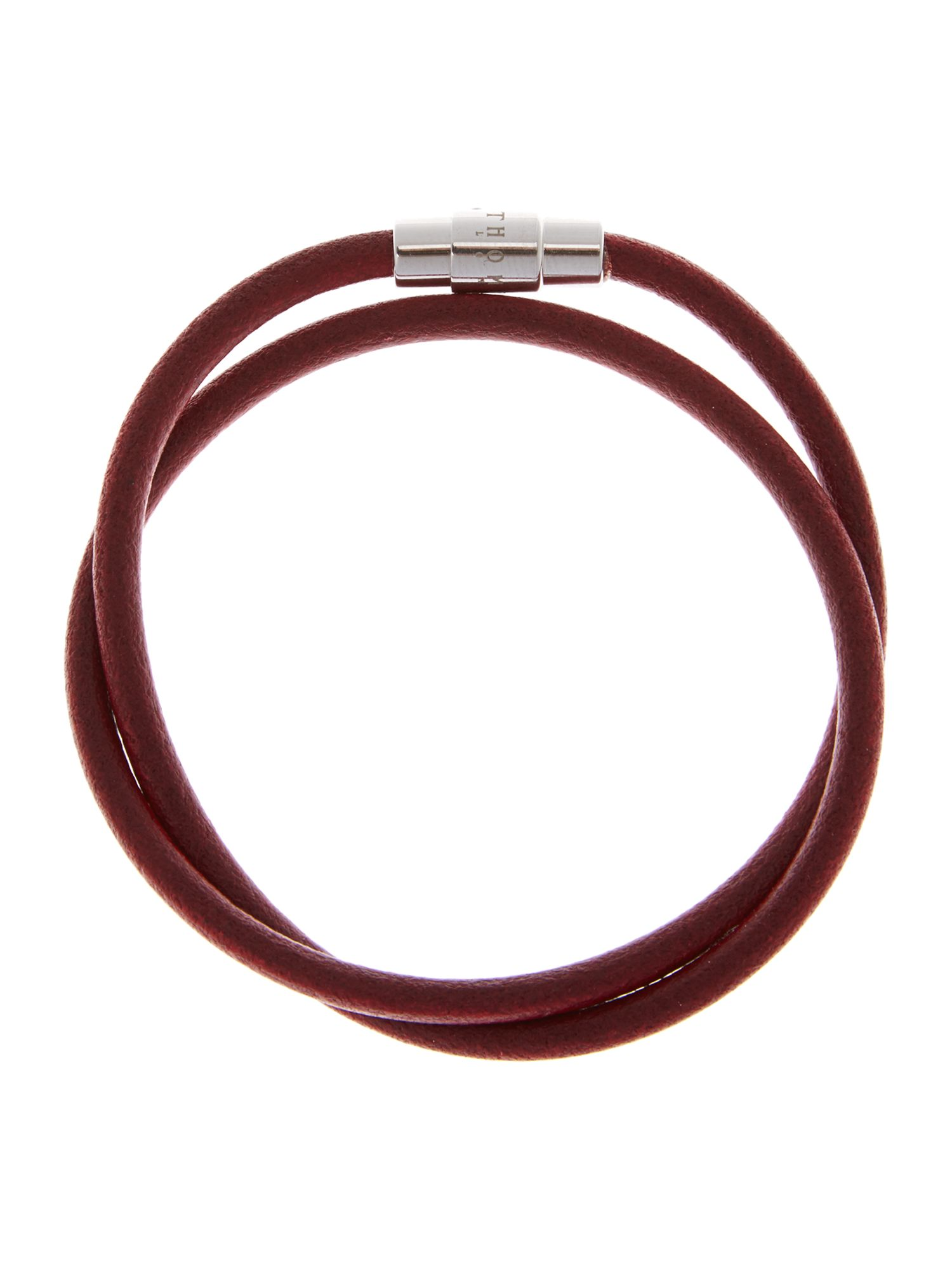 Smooth leather twist bracelet