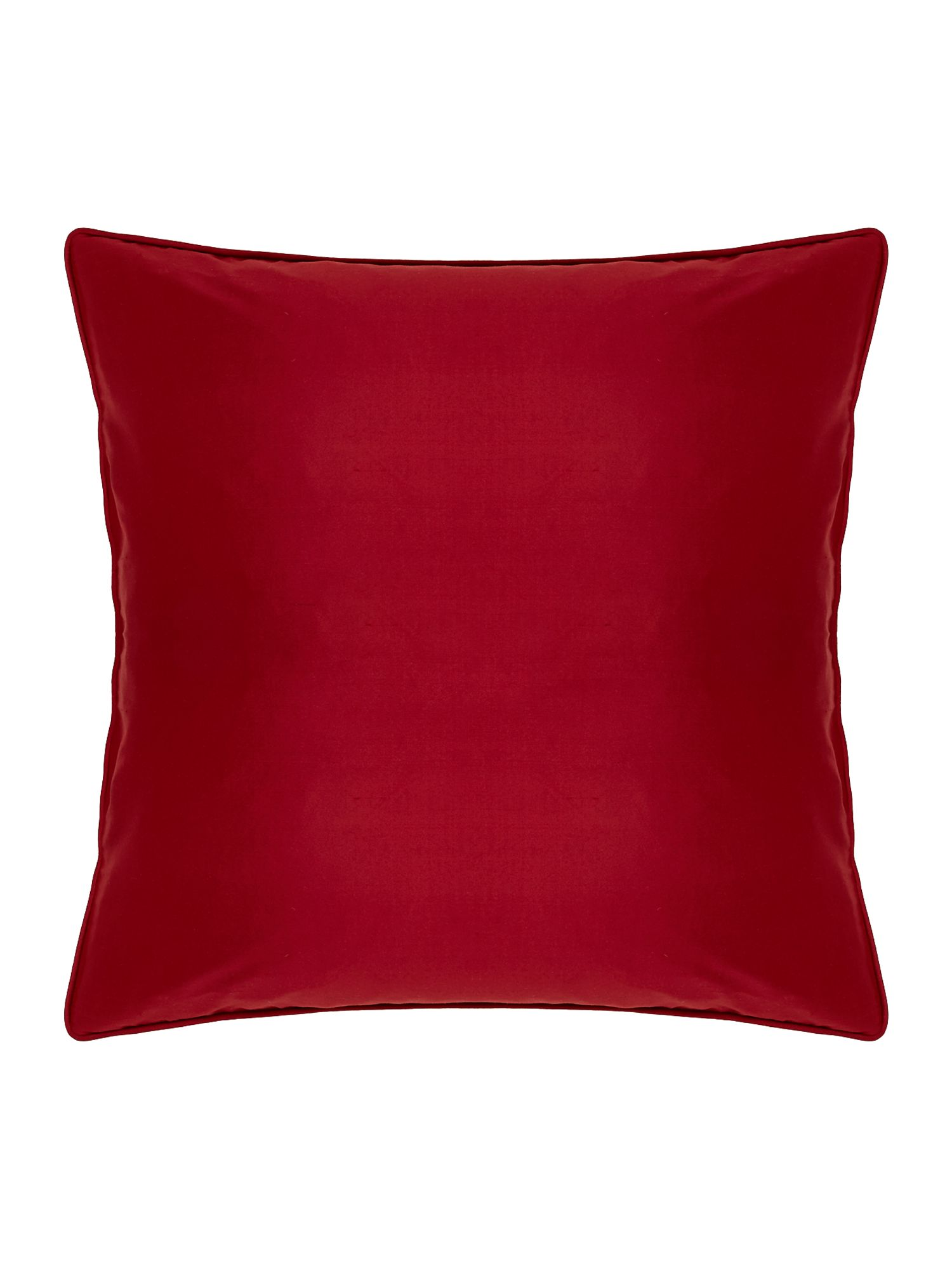 Oversized silk cushion, Red