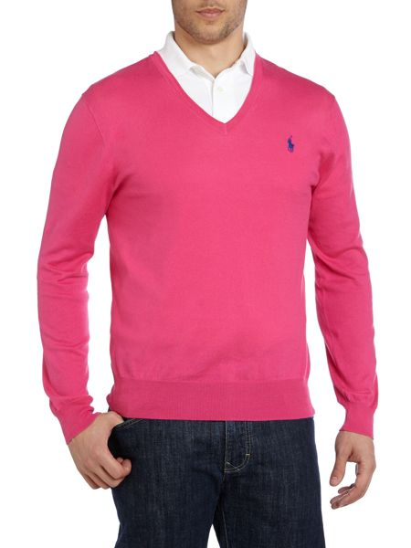 Polo Ralph Lauren V neck slim fit pima cotton polo