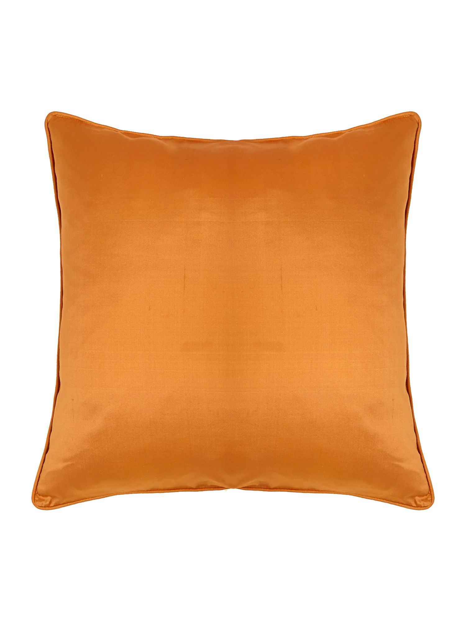 Oversized silk cushion, Rust